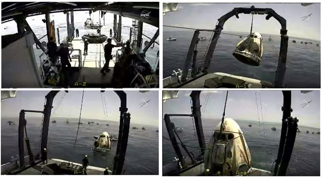 spacex-capsule recovery