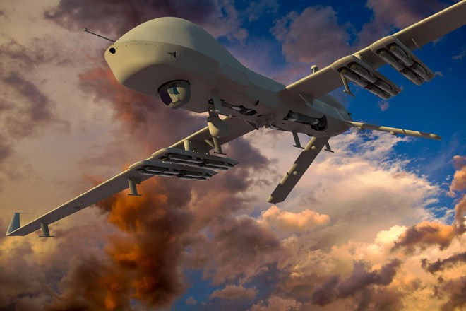 General Atomics MQ-1C Gray Eagle Extended Range with air launched effects