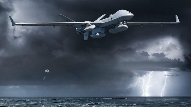 MQ-9B SeaGuardian dropping sonobuoys c General Atomics