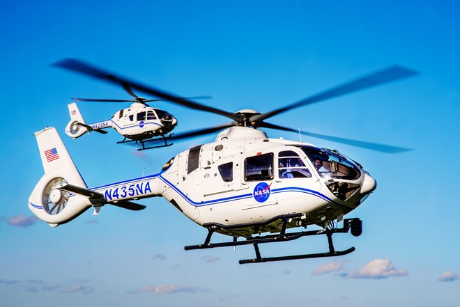 Airbus Helicopters H135 in NASA liverly