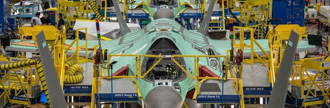 F-35 in assembly