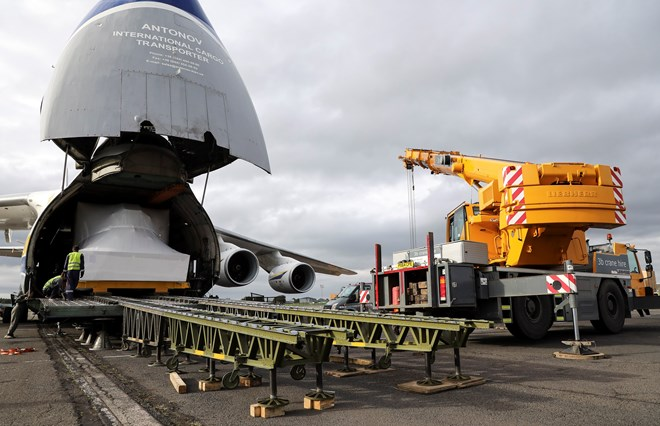 Antonov Airlines An-124 RAF P-8A simulator delivery