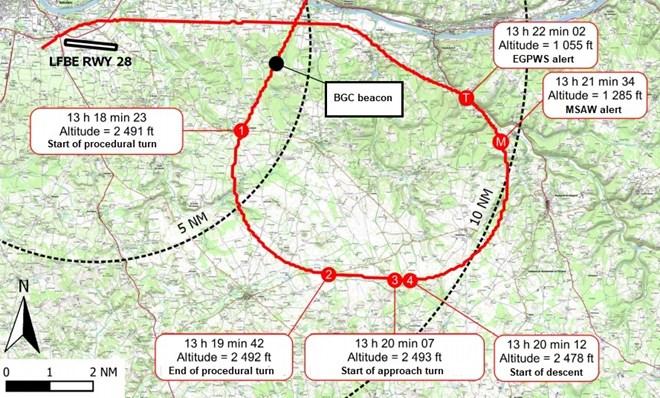 Ryanair approach map