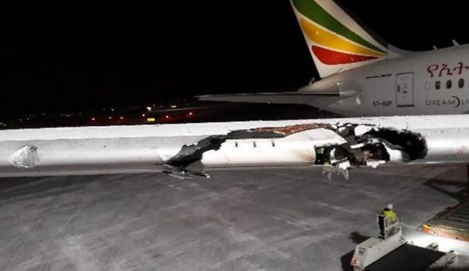 Ethiopian 787 wing damage