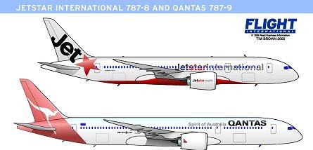 787-9 qantas graphic