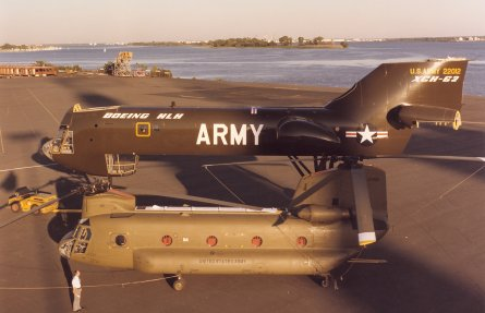 Boeing's XCH-62 dwarfed its Chinook, but never fle