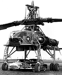 Tip jets powered the massive rotor of Hughes' lumb