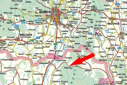 Slovak An-24 crash map