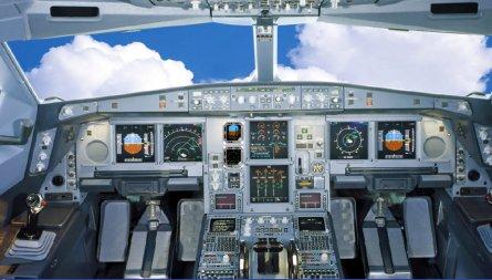 A350 flightdeck replica W445