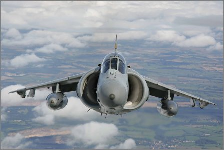 Sea Harrier sky W445