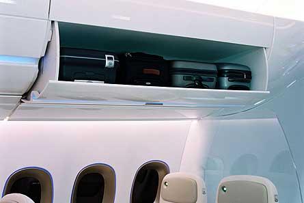A350 overhead bin W445