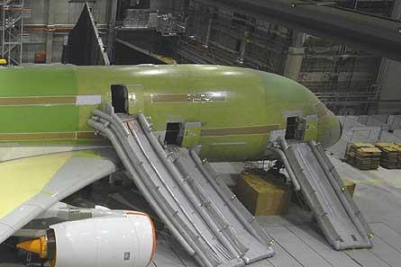 Airbus A380 evac curtain W445