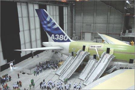Airbus A380 evacuation W445