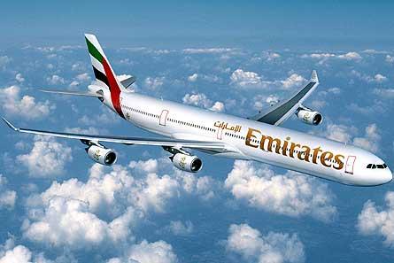 Emirates A340-600 W445