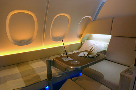 A380 Super First Class bed