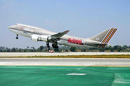 Asiana B747 400 World Cup takeoff W445