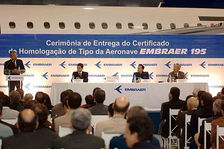 Embraer 195 ceremony W445