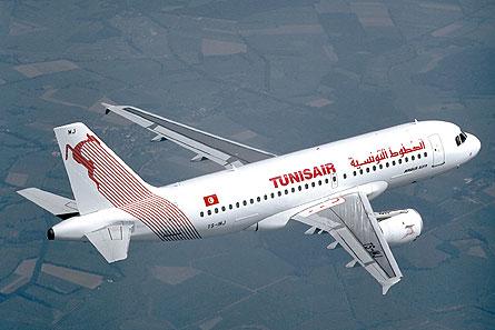 Tunisair A319 W445