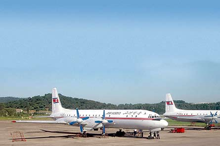 Air Koryo Il-18s W445