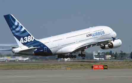 A380 taking off