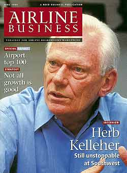 June 1999 Airline Business cover Herb Kelleher