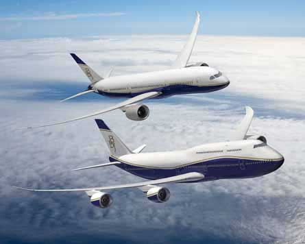 BBJ 747-8 and 787