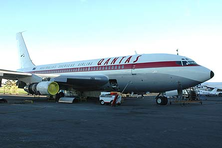 Picture Restored Boeing 707 Prototype In Qantas Colours Performs Engine Runs Ahead Of Delivery Flight To Sydney Via Travolta Jet Meet Up News Flight Global