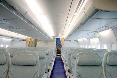A380 MSN007 main economy cabin