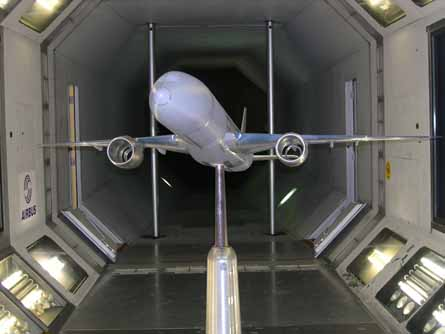 Airbus A350 windtunnel