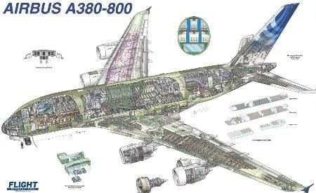 Airbus A380-800 Cutaway