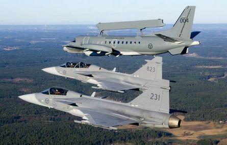 Saab Gripens and Erieye
