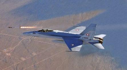 Swiss F/A-18C missile