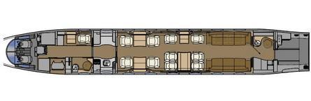 Gulfstream G650 - cabin layout