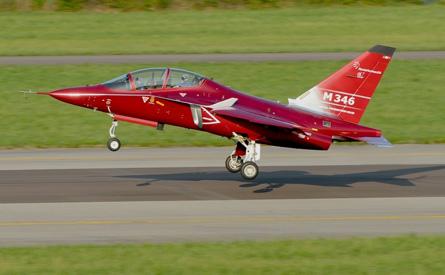 M-346 landing