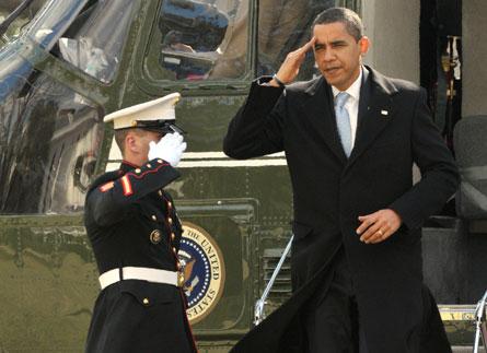 Obama Marine One - Ron Sachs Rex Features