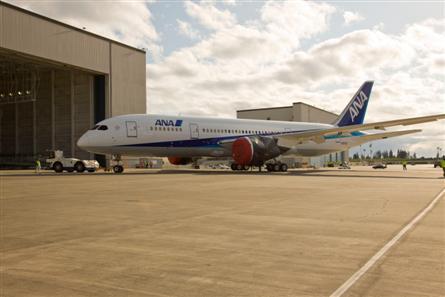 ANA 787 pic at hangar