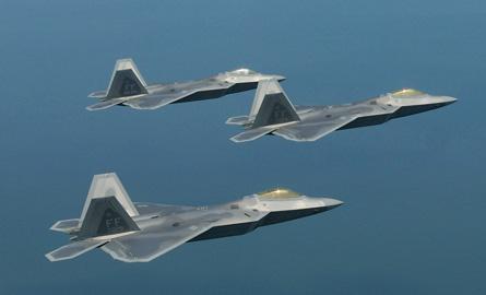 F-22 Raptor trio - US Air Force