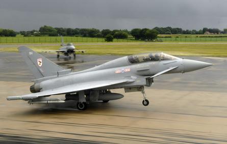 RAF Eurofighter lands - Crown Copyright
