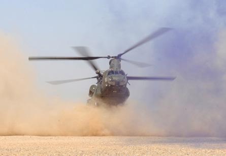 RAF Chinook - Sgt Dan Harmer MoD