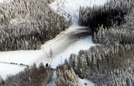 Finnish F-18D crash site - Finnish air force