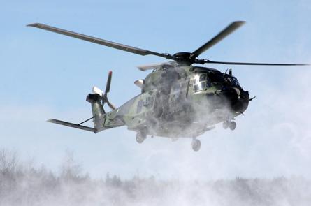 Finnish NH90 snow - Utti Jaeger Regiment