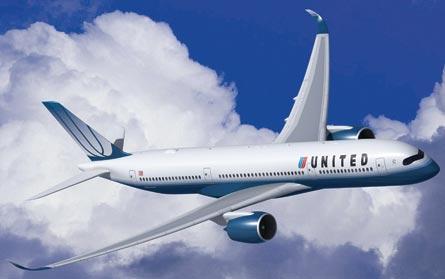 A350-900 United, ©Airbus