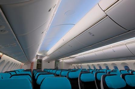 Boeing 787 cabin, ©Boeing