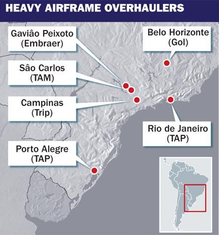 Brazil map, ©Tim Brown/Flight