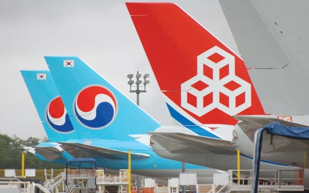 Cargolux/Korean, ©Jon Ostrower, Flight
