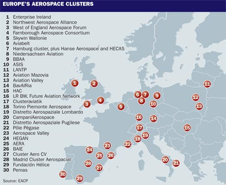 Europe's aviation clusters, ©Tim Brown, Flight
