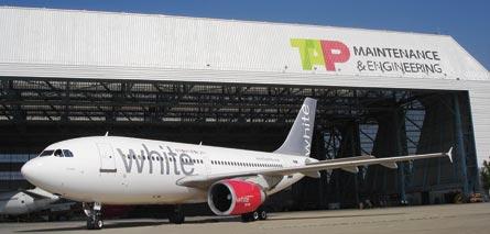 White Airways at TAP's maintenance & engineering f