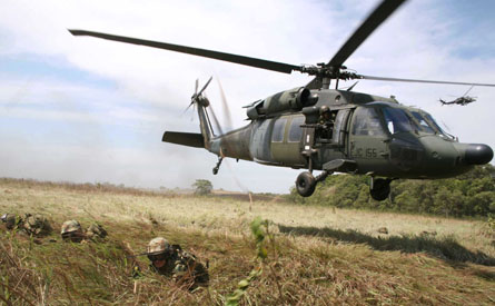 Colombian army Black hawk - Sipa Press Rex Feature
