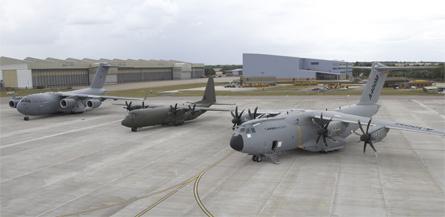 RAF transport trio - Airbus Military