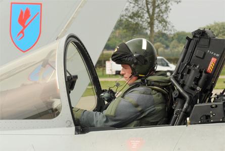 Eurofighter pilot - Crown Copyright